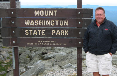 Mikey on the top of Mount Washington, the tallest peak in the northeast.                                             (Shannon Mullen)