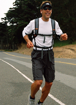 Dean Karnazes trains for the remaining marathons in his quest to run 50 marathons in 50 states in 50 days.                                             (Gideon D'Arcangelo)