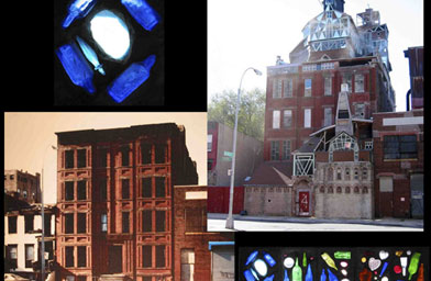 A Photo montage shows the building now and then.                                             (Christopher Wood)