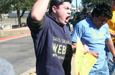 Luis Orozco, an alum of Webb Middle School, is now fighting to keep the school open.                                             (Michael May)