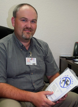 Nathan Riggs, Community Relations and Water Efficiency Manager for the BexarMet Water District.                                             (Michael May)