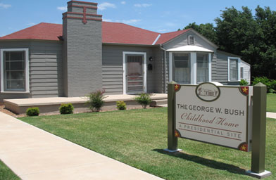 The exterior of the George W. Bush Childhood Home in Midland, Texas which opened to the public on April 12, 2006.                                             (Katy Floyd)