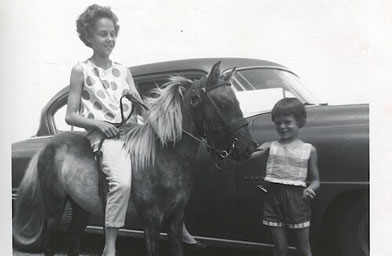 Debra Marquart and her sister Colleen grew up on a farm in North Dakota. This picture was taken in August 1962.                                             (Debra Marquart)