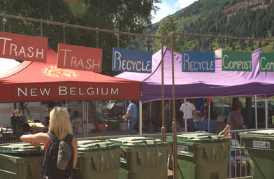 "The festival strove to be ""green,"" with, for example, a recycling station.                                             (Benko Photographics)"