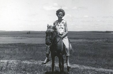 Colleen on a pony in August 1962.                                             (Debra Marquart)