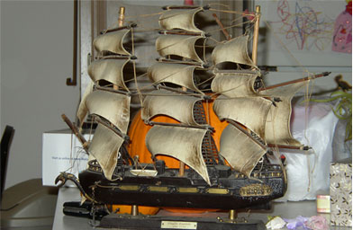 A model ship that John Vogel's mother bought years before he was born. He adopted it as a kid, and has had it ever since.                                             (John Vogel)