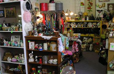 Terri sells antique purses out of this booth on the weekends.                                             (Terri Echtenkamp)