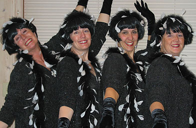 "The Caskettes at Chanhassen Dinner Theater before a different ""girl group"" show in 2006. (Left to right:  Delna, CindyLee, Babs, Mimi)                                             (Cynthia Ryan)"