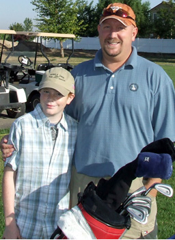 Chris and his nephew Braeden at a golf tournament.                                             (Photos courtesy of: Chris McNaught)