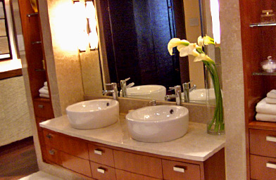 The bathrooms feature his and her sinks.                                             (Michael May)