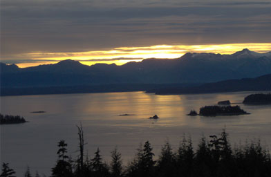 A sunset in Auke Bay, which is where Weigel lives.                                             (Beth Weigel)