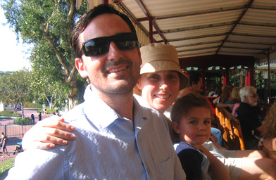 Tim Scanlin and his famiy at Disneyland.                                             (Tim Scanlin)