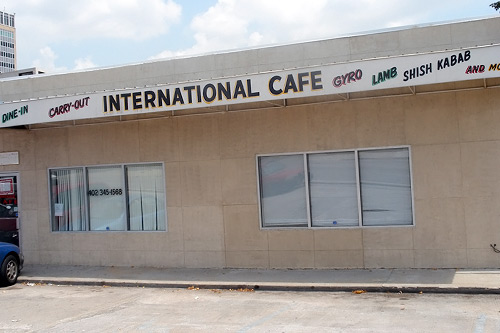 Refugees go to the International Cafe to eat Ethiopian food, watch news from their home countries and feel a sense of community.                                             (Kara Oehler & Ann Hepperman)