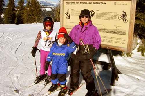 Jackie, Marlo and Mac Mizer on the slopes in McCall, Idaho.                                             (Courtesy Jackie Mizer)