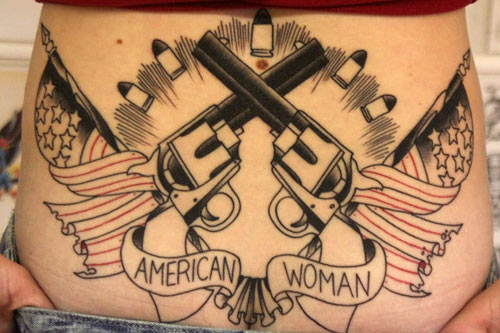 Specialist Andrea Gillingham got this tattoo her first weekend back from service.                                             (Michael May)