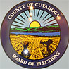 The Cuyahoga County Board of Elections seal.