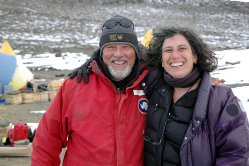 Anne Aghion and Dr. Allan Ashworth at their campsite in the Dry Valleys.                                             (Peter Rejcek)