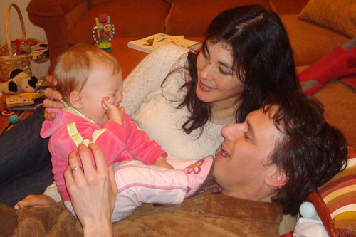 Bill Radke, wife Sara Bowen, 1-year-old daughter Susanna.                                             (Barb Liang)