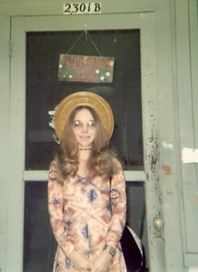 Weekend America listener Bobbye Larson in 1972, around the time she went to see Frank Zappa in concert.                                             (Courtesy Bobbye Larson)