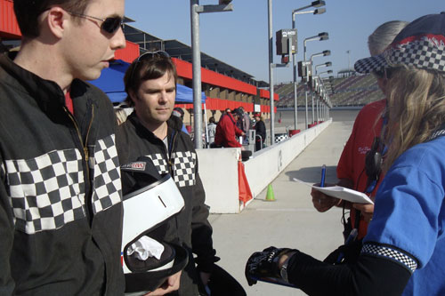Charlie Schroeder is debriefed before his racing class.                                             (John Lusitana)
