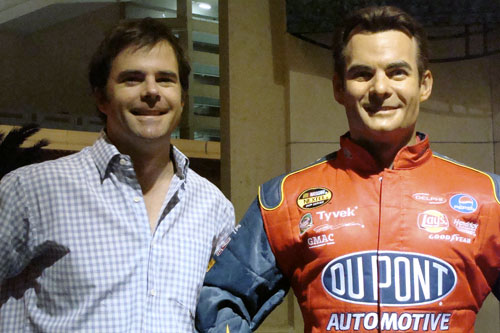 Separated at Birth? Charlie Schroeder and a waxy Jeff Gordon, outside the Las Vegas Madame Tussuad's.                                             (Wendy Mok)
