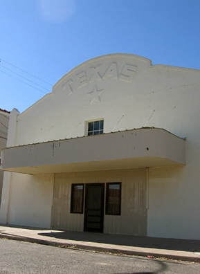 Although a favorite of movie location scouts, Marfa itself no longer has any more operating movie theaters. The building shown here was once the Texas movie theater, one of two in Marfa. It is now used for office space.                                             (Neille Ilel)
