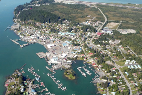 An aerial view of downtown Wrangell.                                             (Doug McCloskey)