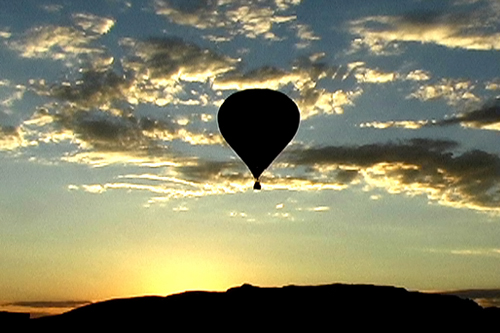 A long view of Lowery's hot-air balloon ride.                                             (Courtesy of