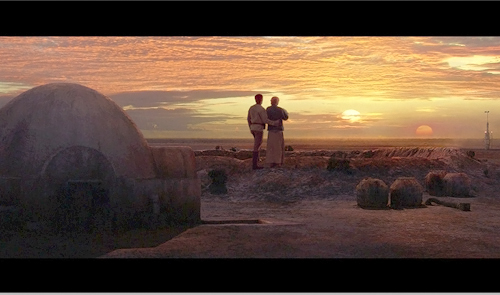 "Listeners objected to a Weekend Weather reference to the ""desert planet"" Alderaan from Star Wars. Alderaan is actually a mild planet. Tatooine (shown here) is the real desert planet.                                             (--)"