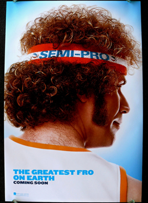 """Semi-Pro,"" stars Will Ferrell and chronicles the struggles of the Tropics, a fictional Flint, Mich., team. The Michigan city actually did have a semi-pro basketball team called the Flint Pros, it was part of the now defunct Continental Basketball Association, or the CBA.                                             (Courtesy New Line Cinema)"