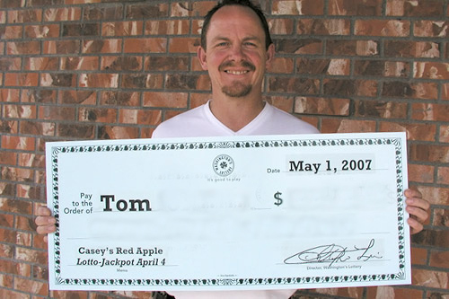 Tom, a real estate agent, won the lottery around the time of last year's fourth anniversary of the Iraq Invasion. Tom prefers to keep his last name, and the amount of money that he won secret.                                             (--)