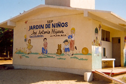This school in Mexico was painted with recycled paint from Sunset Scavenger.                                             (Courtesy Sunset Scavenger Recycling Center)