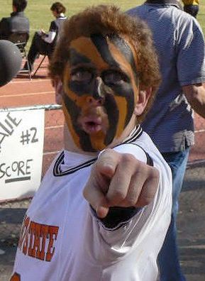 Super-fan Ross Cunningham wearing his Idaho State University Bengal stripes.                                             (Courtesy Ross Cunningham)