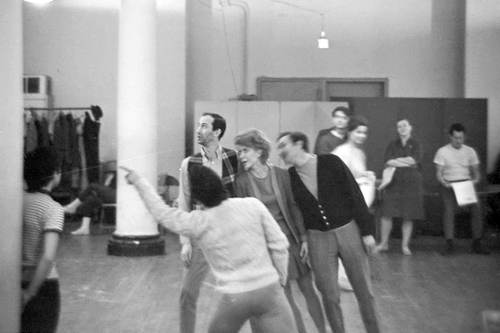 Joshua Zavin took this picture of the Hyman Kaplan cast rehearsing when he was still a high school student. That's Donna McKechnie in the middle.                                             (Joshua Zavin)
