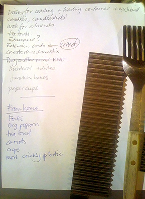 "A list of the kitchen instruments included in ""Musica a'la Mode.""                                             (Josh Rogosin)"