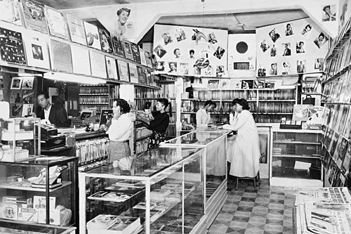 Flash Records Store circa 1955, South Los Angeles, Calif.                                             (Michael Ochs Archive/Getty Images)