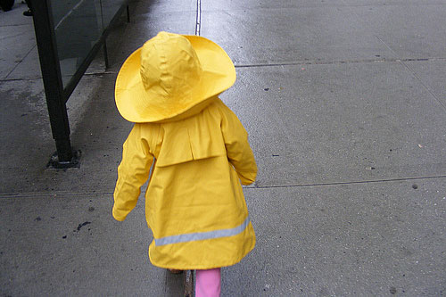 """When we were walking down the street, we'd have to stop every few paces just so she could see her reflection in a storefront or in a bus shelter. Even the grimmest, most severe New Yorkers couldn't help but smile -- you just saw this vision of yellow bouncing down the street.""                                             (Greg Shuey)"