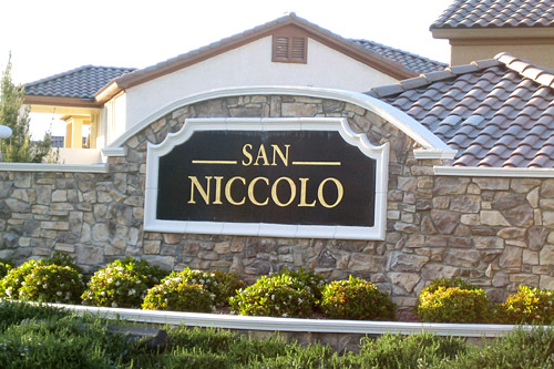 The gated community of San Niccolo has 214 houses, and 38 are currently for sale. At least 24 have been foreclosed.                                             (Krissy Clark)