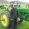 Art Freymiller and John Deere tractor