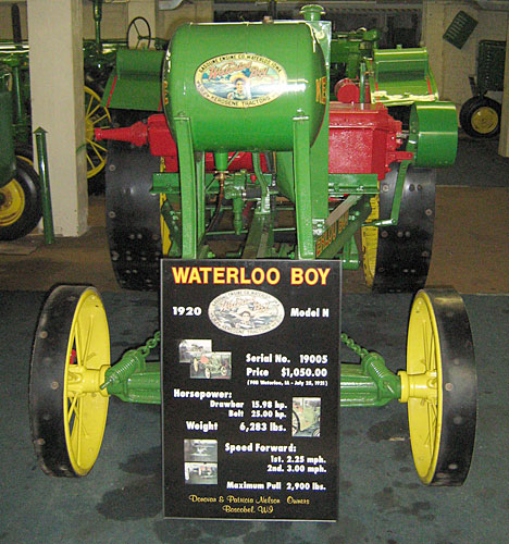 Sam Nelson's Waterloo Boy tractor, worth about $87,000.                                             (Jesse Millner)