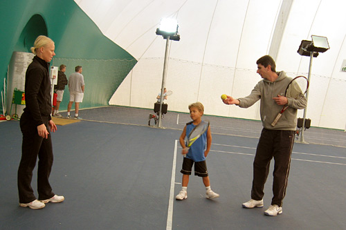 Young Jan trains with his mother, Mari Maattanen, and coach, Patrick Mouratoglou. Maattanen is a tennis instructor who used to work at the Gold River Racquet Club in the Sacramento area and is now employed by the Mouratoglou Academy.                                             (Rene Gutel)