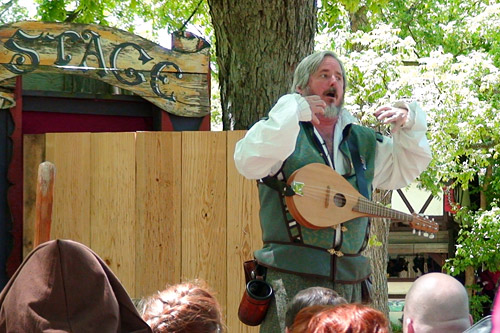 Pictured here performing is Terry Foy, better known as Zilch the Tory Steller, purveyor of crude spoonerisms at Renaissance faires around the country.                                             (Julia Barton)