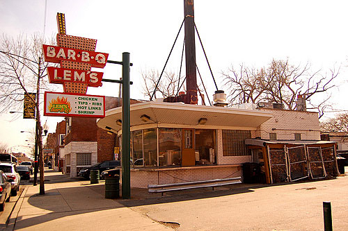 An icon of South Side Chicago, Lem's Bar-B-Q was founded by three brothers who migrated from the South and brought their love of all things hog with them.                                             (Amy C. Evans)