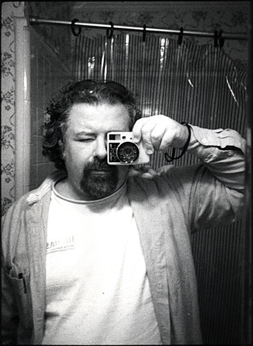Alexander Thompson in a photograph made using one of his smallest cameras, the Canon Dial 35 from the 1960s. Thompson refuses to give up film for digital.                                             (�2008 silverimagelimited.com)