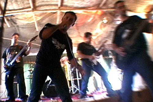 Acrassicauda perform at the VICE sponsored concert at the Al-Fanar Hotel in Baghdad, 2005.                                             (VBS.TV/VICE Films)