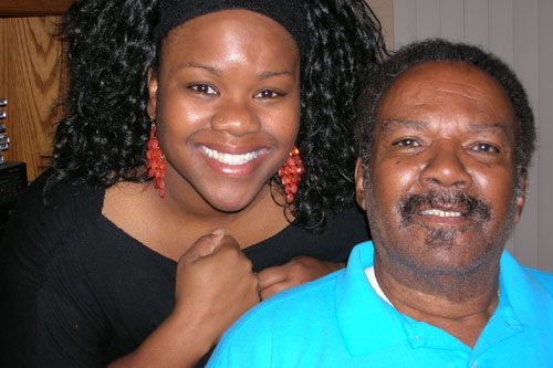 Millie Jefferson and her dad, basketball fanatics                                             (Jelani Ferguson)