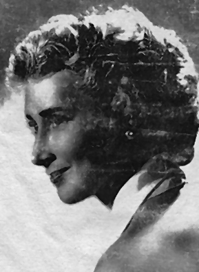 This is a silkscreen portrait of Weekend America listener and guest Julia Dole's mother Wilhelmina O'Brien Dole in her 20s after her nose job. Wilhelmina was a professional opera singer.                                             (Courtesy Julia Dole)