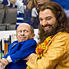 "Mike Myers and Verne Troyer in ""The Love Guru"""