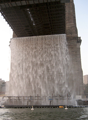 The completed Brooklyn waterfall.                                             (Bernstein Photography)