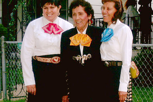 Rachel Sangalang, Teresa Cuevas and Isabel Gonzales at the Fiesta Mexicana in 2006.                                             (Sylvia Maria Gross)